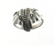 R7 Silver elephant ring