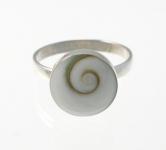 R169 Silver shiva ring