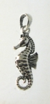 P118 Sterling Silver 3D Seahorse