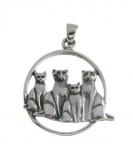 WP121 family of cats pendant
