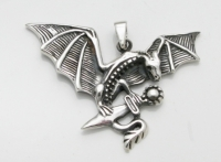 P126 Dragon with sword pendant