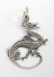 P135 Detailed dragon pendant