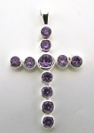 P16 cross with purple cz
