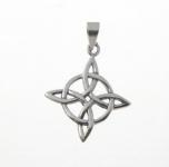 P177 Celtic Diamond and Circle Pendent