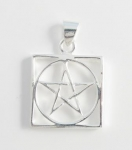 P184 pentagram in square pendant