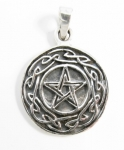 P192 Pentagram with celtic knotwork pendant