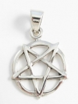 P198b Up-side down pentagram pendant
