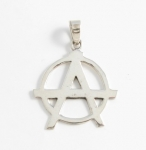 P202 Anarchy symbol pendant