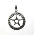 P205 pentagram with runes pendant
