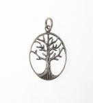 P209 Silver tree pendant