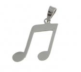 P218 Music note pendant