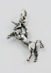 P239A Rearing unicorn pendant