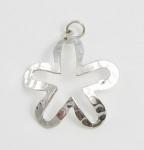 P253 Textured flower pendant