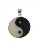 P267b Silver Yin Yang Pendant