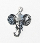 P270 Silver Elephant Head Pendant