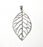 P301 Leaf skeleton pendant
