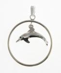 P306 swinging dolphin pendant