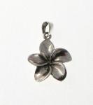P327 Pulmeria flower pendant