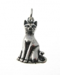 P341 Sitting cat pendant