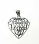 P36 Filigree Heart Pendant