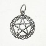 P368 Pentagram in a Celtic Circle Pendant