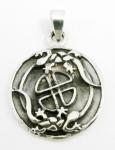 P44 Celtic gecko pendant