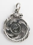 P53 Dragon and yin-yan pendant
