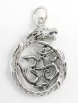 P55 Dragon and ohm symbol pendant