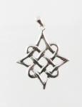 P74 Silver Celtic Diamond