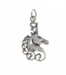 P85 Silver Unicorn Head Pendant