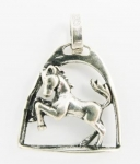 P89 Horse in stirrup pendant