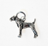 WP9 Silver Dog Pendant