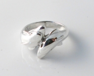 R10 Double Dolphin wrap around ring