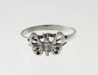 R14 Silver Butterfly Ring