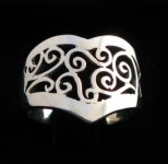 R145 Silver Ornate Filigree Ring