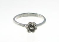 R136 Silver flower ring