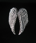 R161 Silver Angel Wing Ring