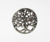 R183 Silver tree ring