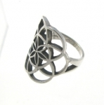 R189 Flower of Life Ring