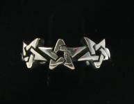 WR217 Triple Pentagram Ring