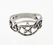 R222 Celtic pentegram ring