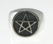 R223 Pentagram Stamp Ring