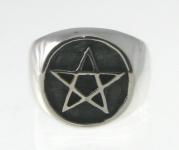R223 Pentagram Stamp Ring