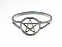 R208 Silver Pentagram Ring