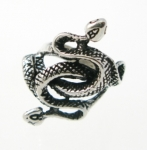 R271 entwined snakes ring