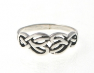R239 Silver celtic ring