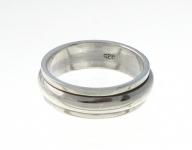 R249 Silver spinner ring