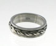 R245 Silver spinner ring