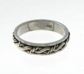 R248 Silver spinner ring