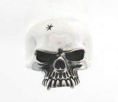 R291 Silver skull ring